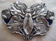 Russian Art Nouveau   Antique Art Nouveau Russian Silver Pendant