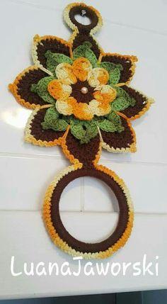Crochet It For You Shawl Crochet Potholders, Crochet Buttons, Crochet Motif, Crochet Doilies, Crochet Towel Holders, Crochet Towel Topper, Crochet Home Decor, Crochet Crafts, Crochet Projects