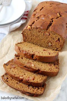 Moist spiced pumpkin apple bread recipe from @bakedbyrachel