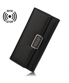 Buy Women RFID Blocking Hasp Long Wallets PU Leather Wallet Purses & Clutch Card Holder - Black - and More Fashion Bags at Affordable Prices. Leather Backpack Purse, Purse Wallet, Leather Purses, Pu Leather, Leather Wallet, Cheap Purses, Unique Purses, Cute Purses, Popular Purses