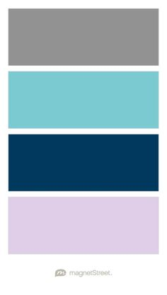 Classic Gray, Turquoise, Navy, and Lavender Wedding Color Palette - custom color palette created at MagnetStreet.com