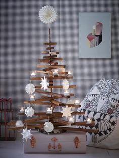 Weihnachtsdeko aus Papier  Weihnachten Verschiedenes  Pinterest