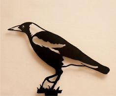 Enhance your garden with a unique Australian designed and manufactured piece of metal artwork. This life size Magpie walking image is a delight and will stylishly integrate into your outdoor living sp. Sheet Metal Art, Plasma Cutter Art, Metal Art Projects, Cut Animals, Metal Garden Art, Metal Birds, Shadow Art, Garden In The Woods, Metal Art
