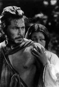 "Rashômon 羅生門 1950, Akira Kurosawa.  A stunning recreation of Ryūnosuke Akutagawa's ""Rashomon"" and ""In The Grove"" novels. Kurosawa is a master of beautiful photography. And Toshiro Mifune is indeed a 4-dimensional actor!"