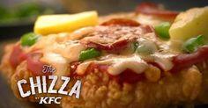 La pizza à la croûte de poulet frit, nouvelle création anti-gastronomique par KFC