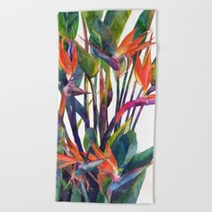Buy The bird of paradise Beach Towel by takmaj. Worldwide shipping available at Society6.com. Just one of millions of high quality products available.