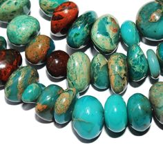 gemspleases : Freeform Turquoise African Diaspro Blue Gemstone Loose Beads