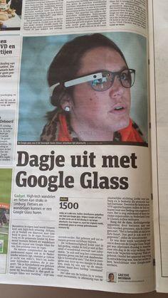 Dagje uit met Google Glass. Metro 17 april 2014.