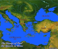 Paul's voyage to Rome 61-62 A.D.