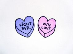 Sailor Moon-inspired candy heart drawings by BEI BADGIRL (<3 <3 <3)