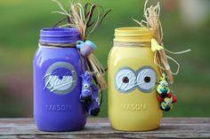 Yellow Minion,Purple Minion Ball Mason Jars - 25+ minion party ideas - NoBiggie.net