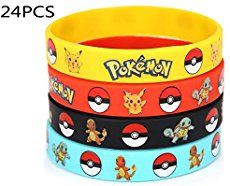 12 Count Pokemon Rubber Bracelet Wristband - Birthday Party Favors Supplies Kids in Home & Garden, Greeting Cards & Party Supply, Party Supplies Birthday Favors, Birthday Party Favors, Birthday Ideas, Pikachu, 6th Birthday Parties, Boy Birthday, Park Birthday, Pokemon Party Supplies, Rubber Bracelets