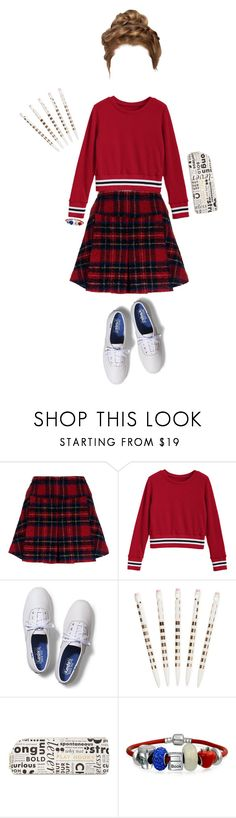 """Back to School :^"" by sconesareawesome-iggybrows ❤ liked on Polyvore featuring Pinko, Keds, Kate Spade and Bling Jewelry"