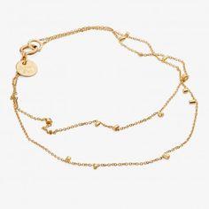 Sweet Pea Yellow Gold Dust 2 Strand Bracelet