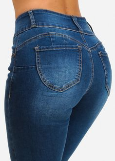 Butt Lifting Mid Rise Comfy Women's Skinny Jeans