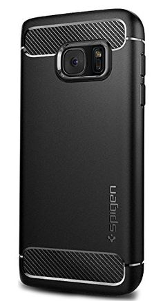 Spigen Rugged Armor Galaxy Case with Resilient Shock Absorption and Carbon Fiber Design for Samsung Galaxy 2016 - Black Samsung Galaxy S5, Galaxy S7, Galaxy Note, Mechanical Design, Cell Phone Cases, Carbon Fiber, Cell Phone Accessories, Monitor, S7 Case