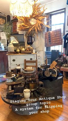 Staging Your Antique Shop with The Junk Parlor.  #vignettes #display #shopdisplay #antiques #antiqueshops #staging