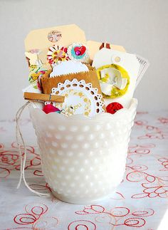 Hobnail milk glass. Love these and have a great collection of them!