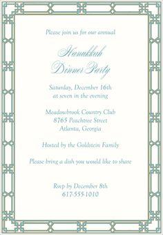 Turquoise Lattice Invitations