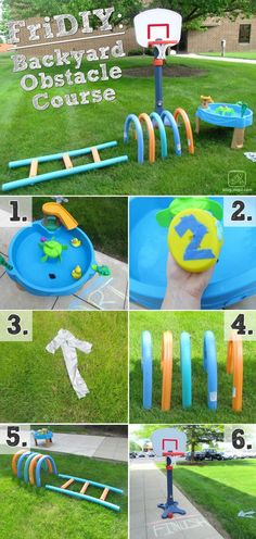 This DIY backyard obstacle course is easy to make and your kids will surely enjoy playing with this. | Outdoor Activity for Kids | DIY Summer Activity for Kids