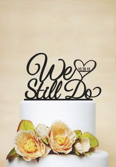Wedding Cake Topper With Wedding Date by AcrylicDesignForYou