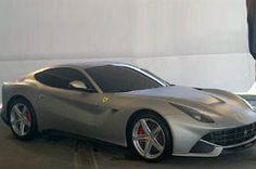 Leaked pic of rumoured next Ferrari V12 front engined GT (599 successor) via Autocar.co.uk