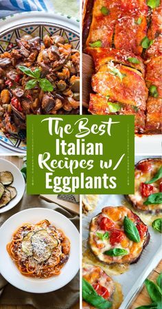 The Best Italian Recipes With Eggplant – Italian Recipe Book - nimivo sites Italian Eggplant Recipes, Italian Pasta Recipes, Best Italian Recipes, Italian Dishes, Favorite Recipes, Appetizer Recipes, Salad Recipes, Vegan Recipes, Appetizers