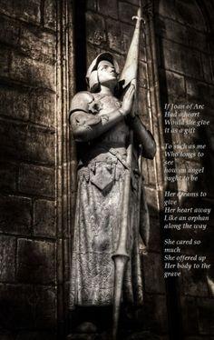St Joan of Arc Sculpture, Notre-Dame, Paris France Joan D Arc, Saint Joan Of Arc, St Joan, Jeanne D'arc, Catholic Saints, Patron Saints, Catholic Art, Tour Eiffel, Joan Of Arc Statue