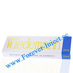 Wiedemann perlane is a clear, transparent and viscous gel supplied in a glass syringe together with a 23G needle.