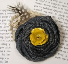 Rosette Brooch with Antique Details