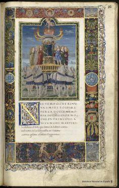 Digital Library of Spain – Biblioteca Nacional de EspañaMiniature from the Poetic Works by Francesco Petrarca