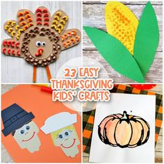 Thanksgiving is a time for family and togetherness. We've rounded up 23  adorable Thanksgiving crafts for kids that we think you're going to love. Thanksgiving Crafts For Toddlers, Easy Fall Crafts, Crafts For Kids To Make, Kids Crafts, Craft Activities For Kids, Preschool Crafts, Autumn Activities, Craft Ideas, Turkey Handprint