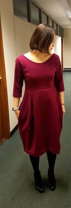 beautiful tulip dress made during the 6 week dressmaking class.  #SewingClassesEdinburgh #Sewing #Dressmaking #Edinburgh #sew