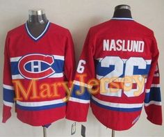 """$34.88 per one, welcome email """"MaryJersey"""" at maryjerseyelway@gmail.com for Canadiens 26 Mats Naslund Red CCM Throwback Stitched NHL Jersey"""