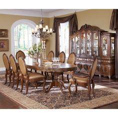 Lavelle+Melange+Palatial+Oval+Dining+Room+Set - furniture cart