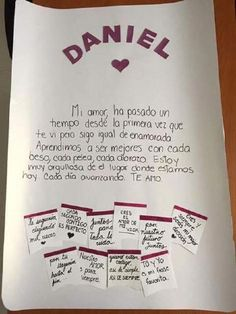 Añadir Pin de imagen - Your Tutorial and Ideas Bf Gifts, Boyfriend Anniversary Gifts, Diy Gifts For Boyfriend, Love Gifts, Gifts For Him, Ideas Aniversario, Love Messages, Birthday Gifts, Diy And Crafts