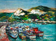 Dumitru Icodin Fishing Vessels in Balchik, oil on canvas, 60 x 40 cm, private collection. Whenever you guys want to suggest a painter/painting,. Eugene Jansson, Fishing Vessel, Oil On Canvas, Abstract Art, Boat, World, Painting, Ship, Beautiful Images