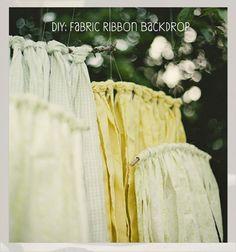 diy fabric ribbon backdrop