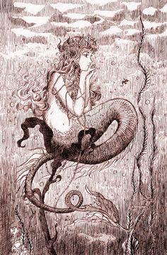 Gotta love vintage mermaids                                                                                                                                                     More