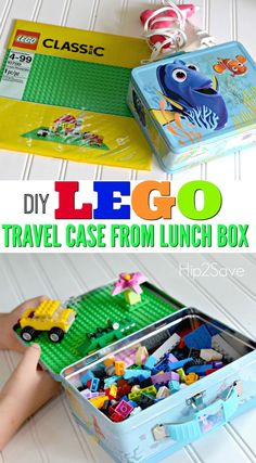 DIY LEGO Travel Case Made from Lunch Box  @hip2save