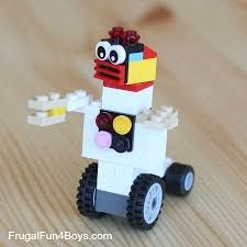 20 Simple Projects for Beginning LEGO Builders 20 Simple Projects for Beginning Lego Builders – Frugal Fun For Boys Lego Duplo, Robot Lego, Lego Cars, Art Games For Kids, Robots For Kids, Lego Projects, Easy Projects, Kids Crafts, Instructions Lego