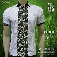 SERAGAM BATIK, White Bossy Megamendung, Kemeja Batik Pria, BATIK SERAGAM Karyawan, Batik Modern, Batik Kombinasi Eksklusif, Hem Batik Putih PRE ORDER : -------------------------- Transfer masuk Produksi 7 hari Kirim POS / JNE KODE : EX-040 (WHITE BOSSY) HARGA : ----------------- Harga : Rp 125.000 (XS sampai XL) Harga UKURAN EXTRA (2XL ke atas) : naik Rp 5.000 setiap size, tanpa batas ukuran, sampai PALING JUMBO RESELLER/DROPSHIP silakan via WA : 08222 128 3456 Bisa SERAGAM BATIK Bisa L...