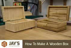 How to Make a Simple Wooden Jewelry Box Wooden jewelry boxes Box