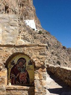 Panaghia Hozoviothisa, entrance to monastery