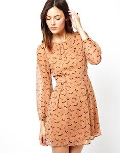 Asos bird print dress. Casual and elegant