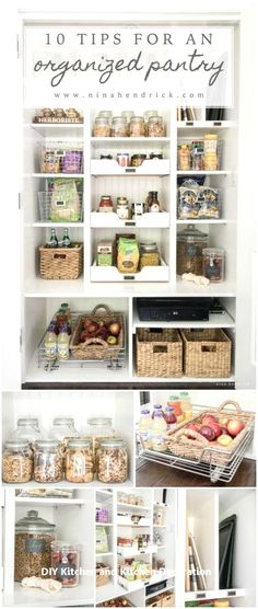 Food storage pantry small spaces 54 new Ideas Food Storage, Diy Kitchen Storage, Diy Kitchen Decor, Pantry Storage, Pantry Organization, Kitchen Pantry, Kitchen Design, Organized Pantry, Pantry Ideas