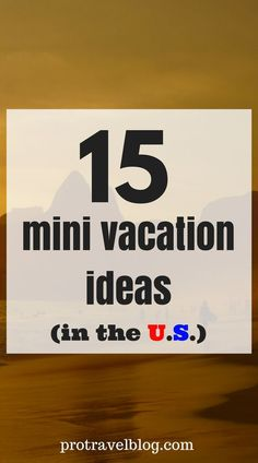 Need quick cheap mini vacation ideas? Here are 15 amazing getaways in the U. f… Need quick cheap mini vacation ideas? Here are 15 amazing getaways in the U. for the weekend or a short trip. These places are just amazing and cheap. Check it out here! Cheap Weekend Getaways, Weekend Getaways For Couples, Weekend Vacations, Couples Vacation, Romantic Weekend Getaways, Romantic Honeymoon, Romantic Vacations, Romantic Travel, Dream Vacations