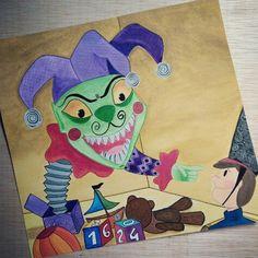 """Terminando trabajos de clase. Ilustración para """"El Soldadito de Plomo"""".  #illustration #ilustración #chil#childrensbook #elsoldaditodeplomo #ilustracióninfantil #infantil #gouache #cuentosinfantiles"""
