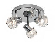 CRYSTAL Brilliant - stropné bodové svetlo - kov+sklo ø 260mm