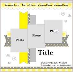 I like the simplicity of this layout and the casualness of the grey, white and yellow colors.